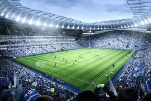 Tottenham give first look at 'world-first dividing retractable pitch'