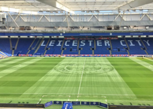 Leicester Groundsman Cuts Club Crest Into Centre Circle
