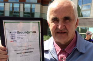 Bedford Town FC Groundsman With Dementia Wins Award
