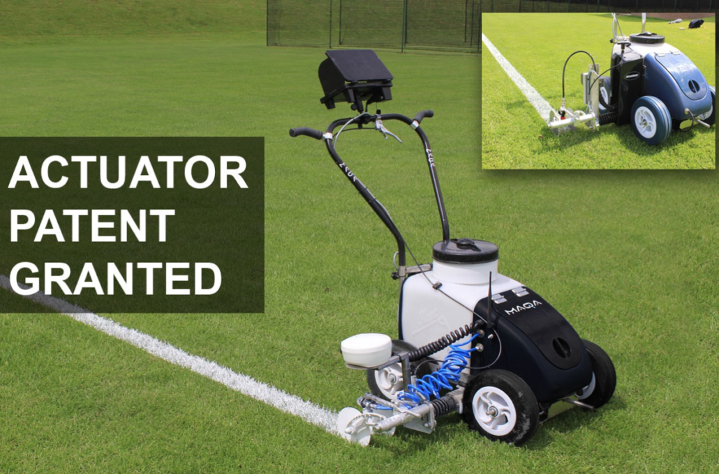 Line Marking Actuator Arm Patent Granted