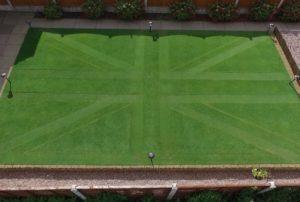 Groundsman impresses judges with Union Jack front lawn