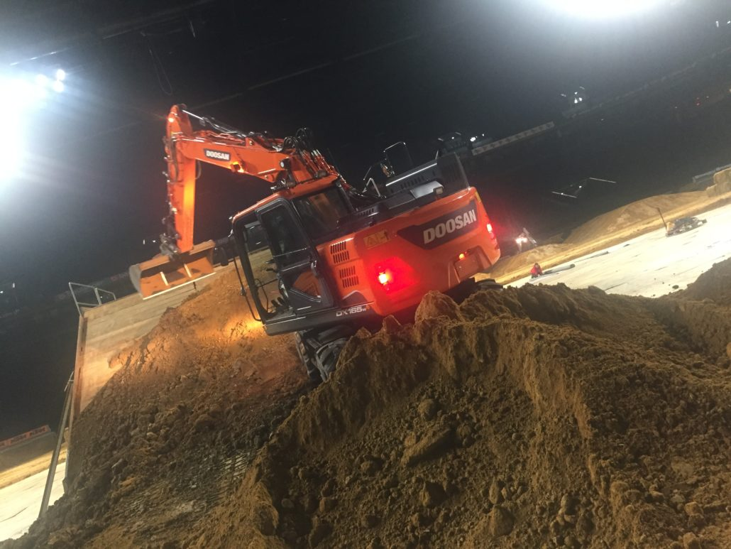 Bobcat Equipment On Supercross Course