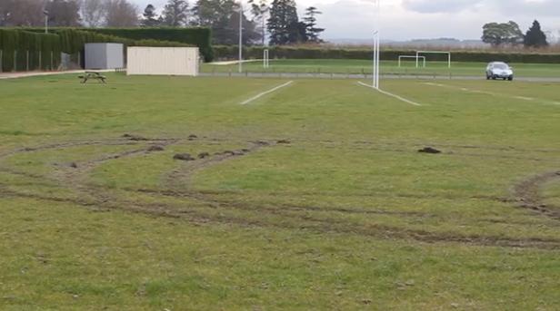 Vandals Wreck Sports Ground