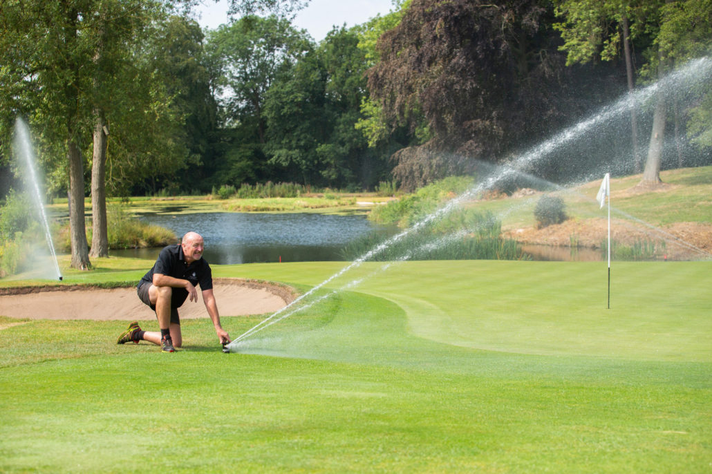 Double Irrigation At Breadsall Priory
