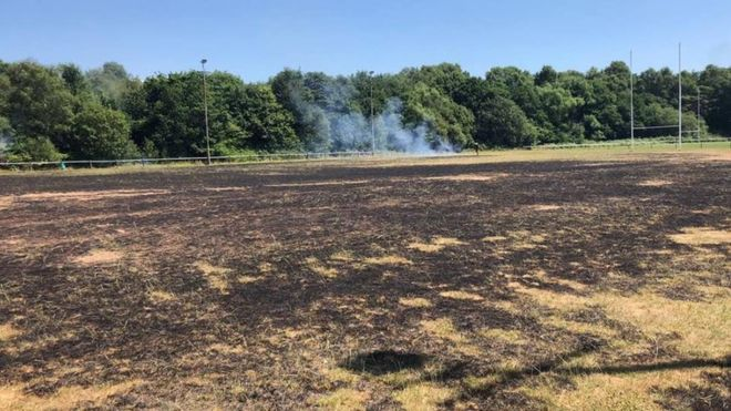 Rugby Club Devastated By Pitch Fire