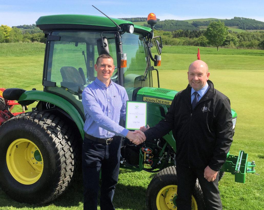 Greenkeeping Award For Gregg Hood