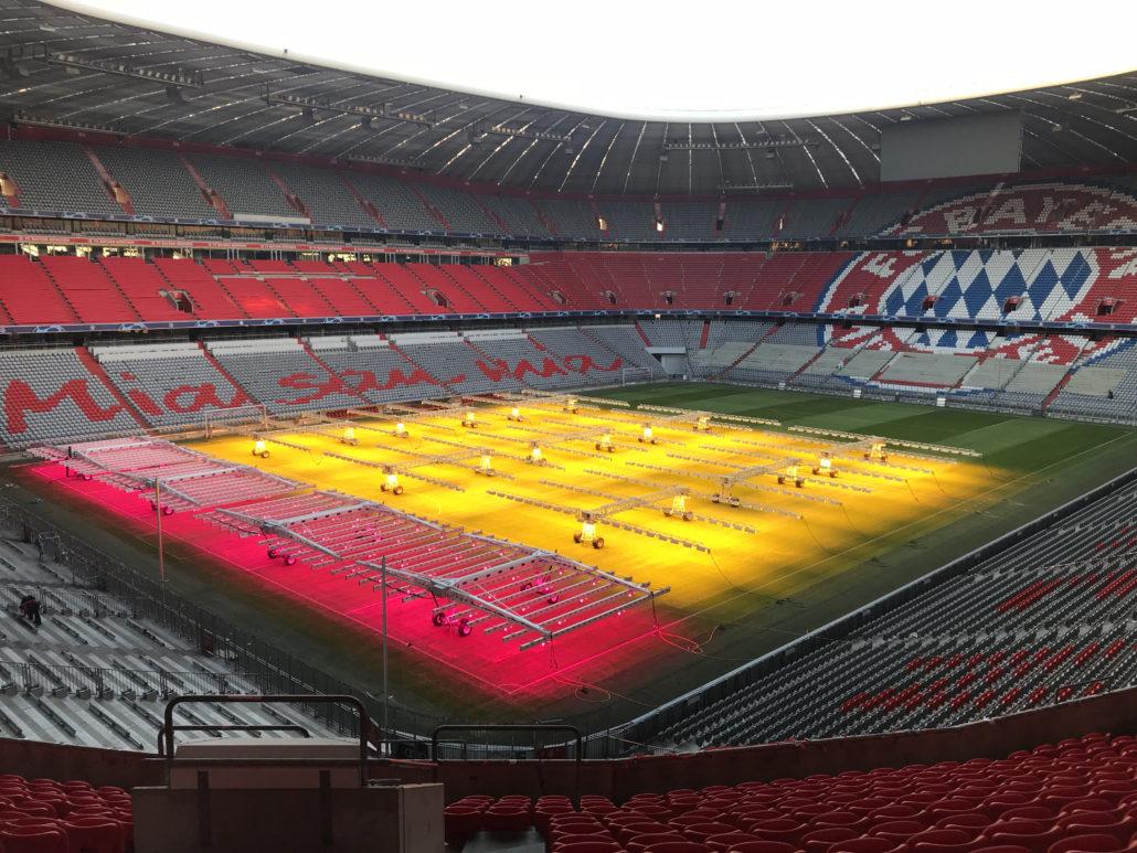Grow Lights At The Allianz Arena