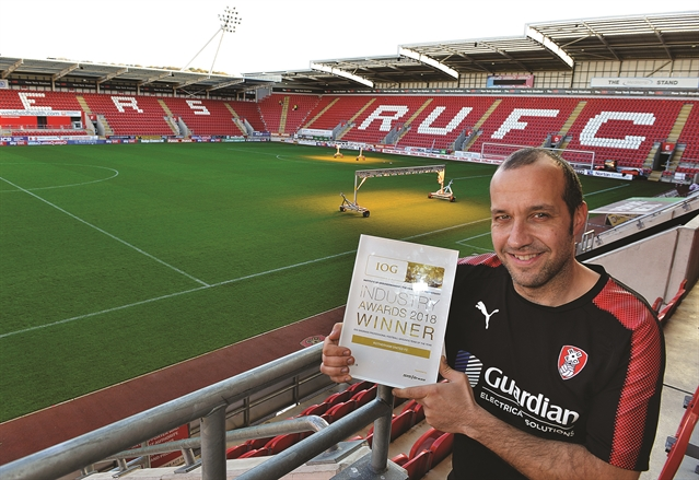 Award For Rotherham Grounds Team