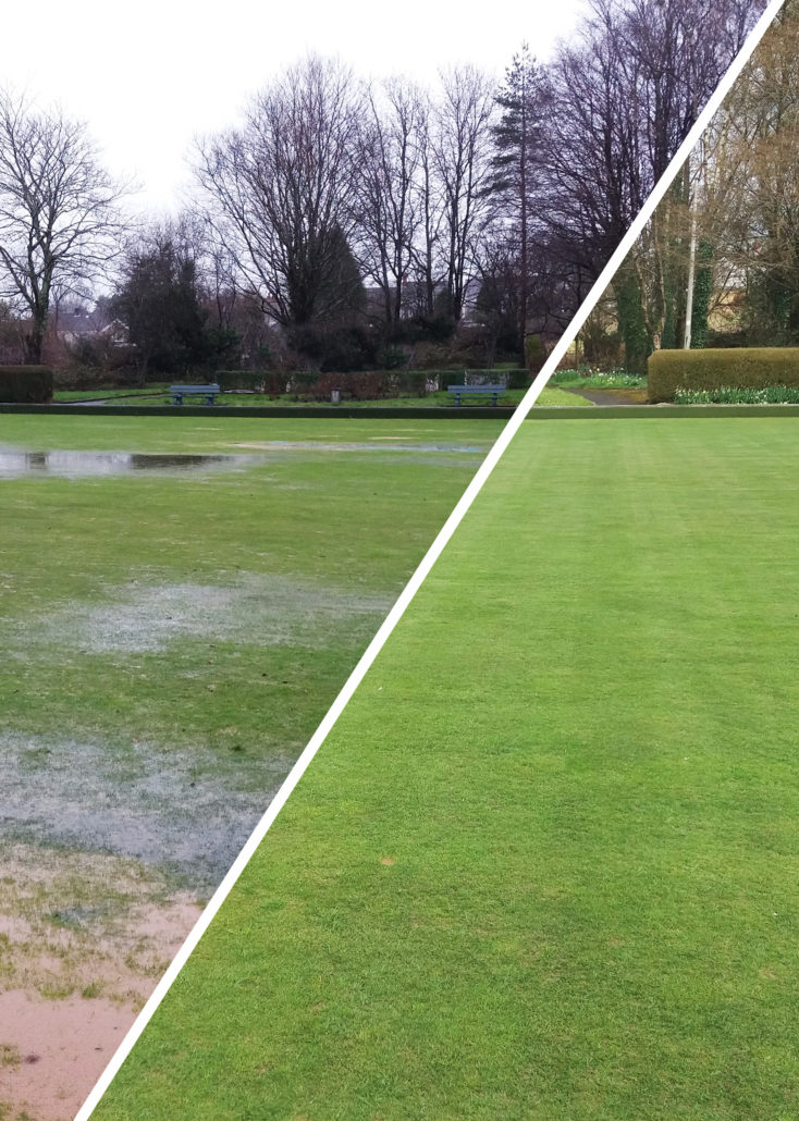 Deep Aeration Cures Waterlogging