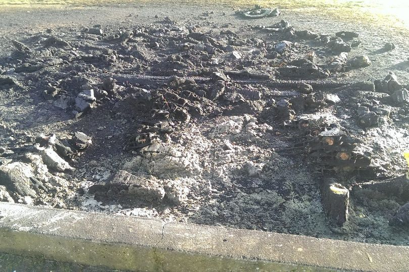 Vandals Set Fire To Football Pitch