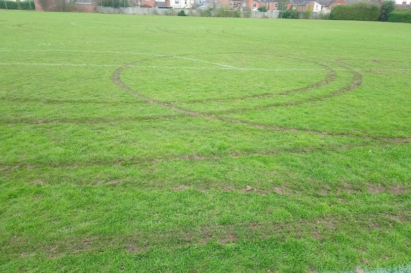 Boy Racers Churn Up Football Pitches