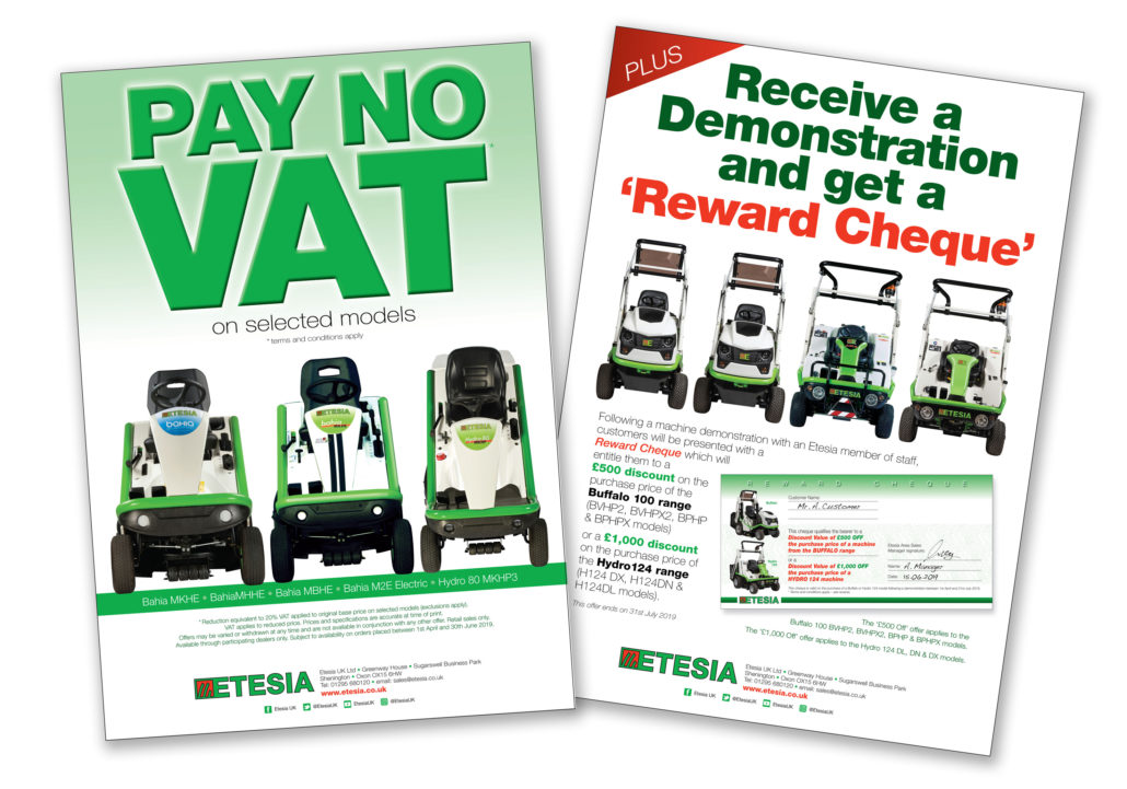 VAT-Free Deal From Etesia UK