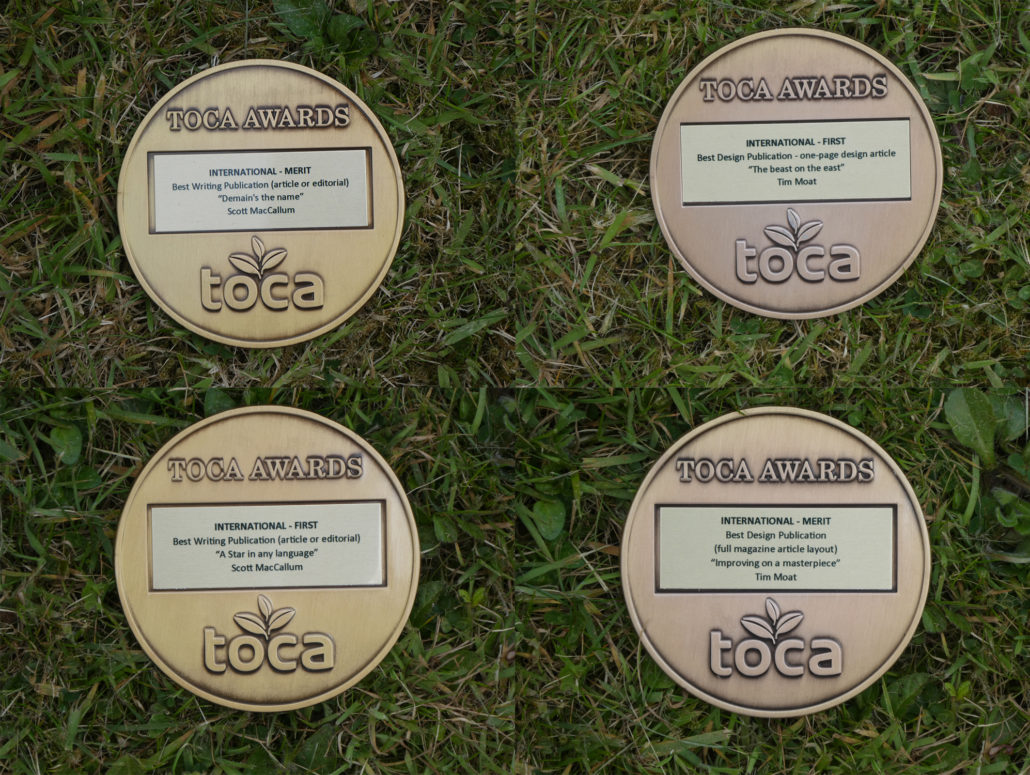 Turf Matters Scoop TOCA Awards