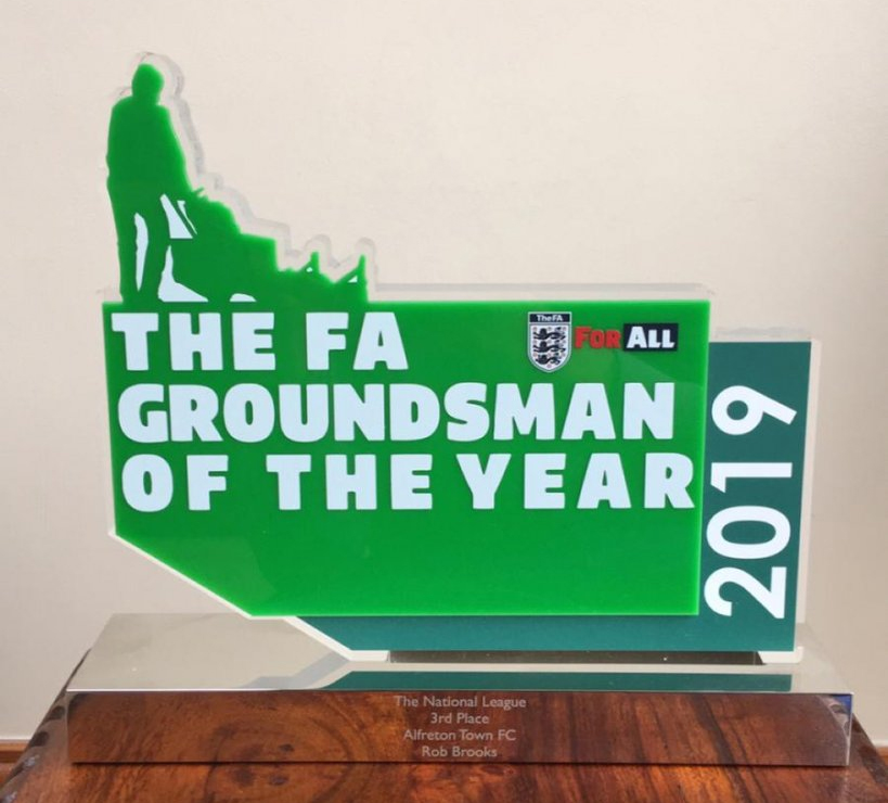 Trophy For Alfreton Groundsman