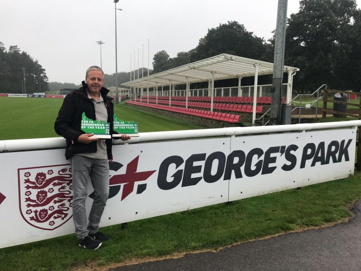 Hastings Groundsman Scoops Award
