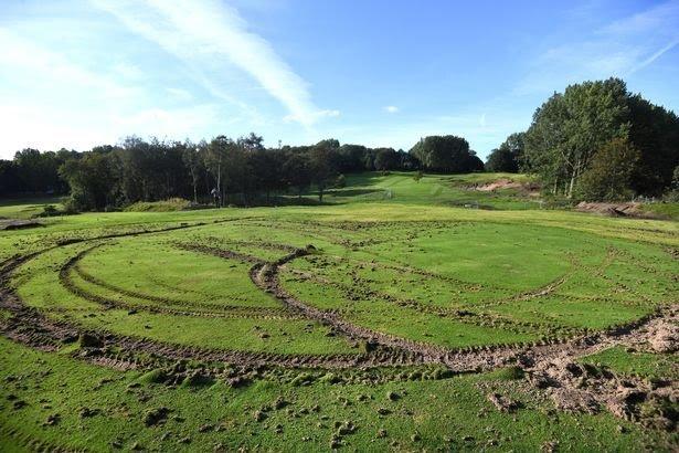 Vandals Leave Golf Green 'Completely Shredded'