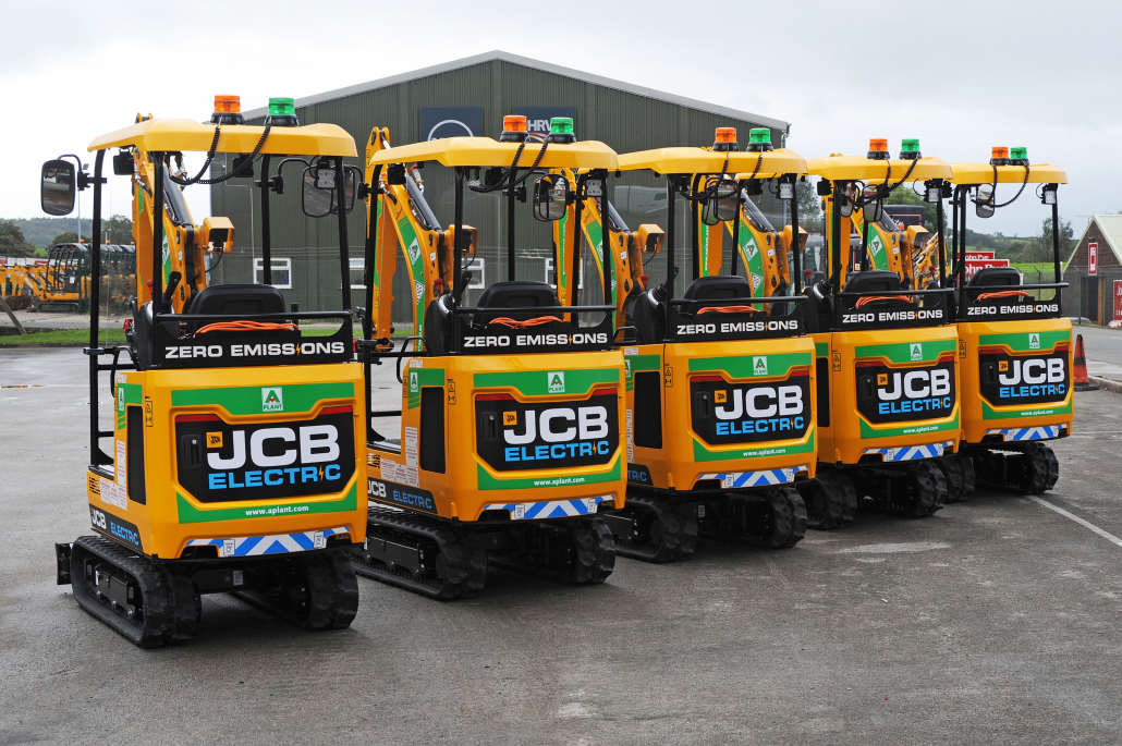 JCB win electric digger order