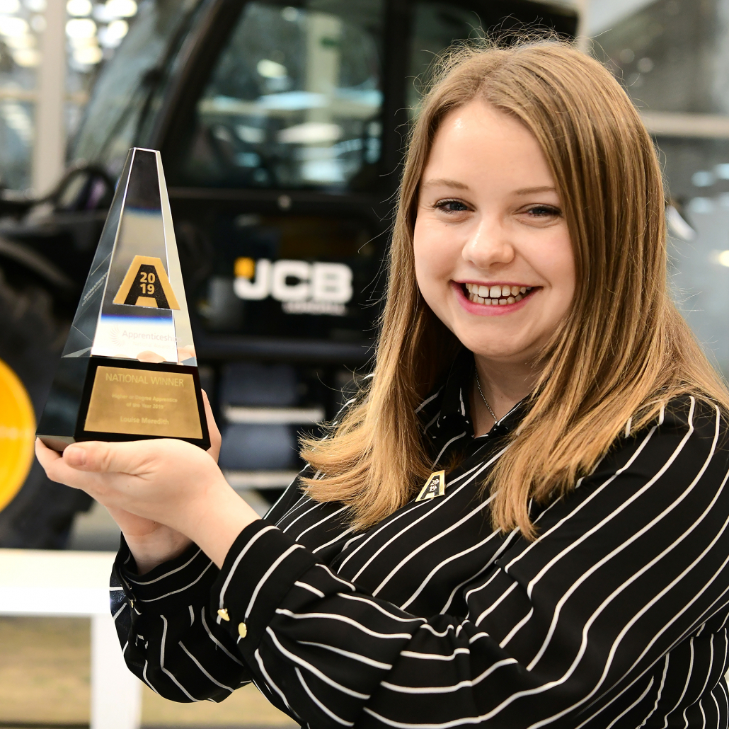JCB engineer scoops apprentice award