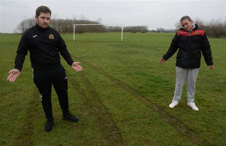Football club hit by vandals