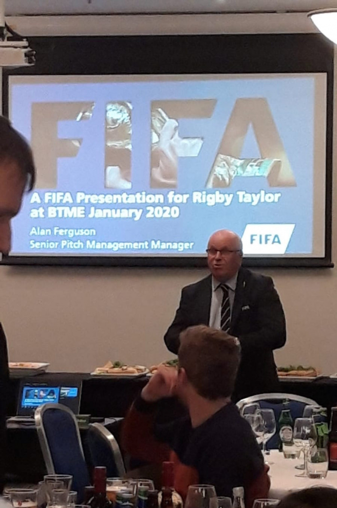 Alan Ferguson giving FIFA Presentation