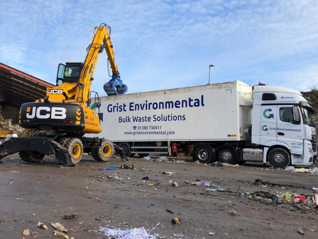 JCB Wheeled Excavator at Grist Environmental site