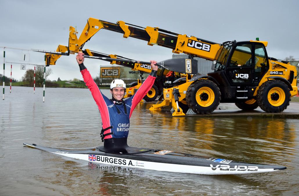 JCB backs British canoeist