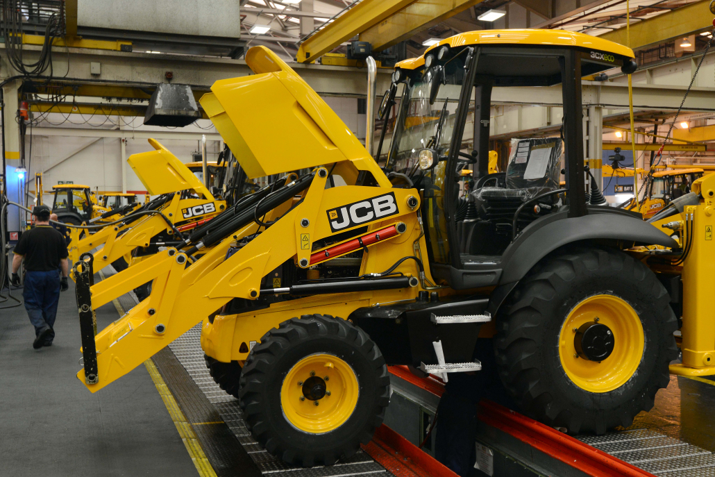 JCB stops production as demand slows