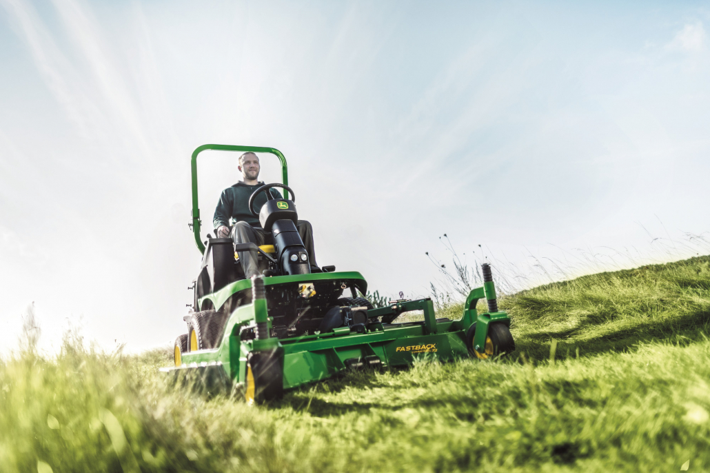 Commercial mower guide