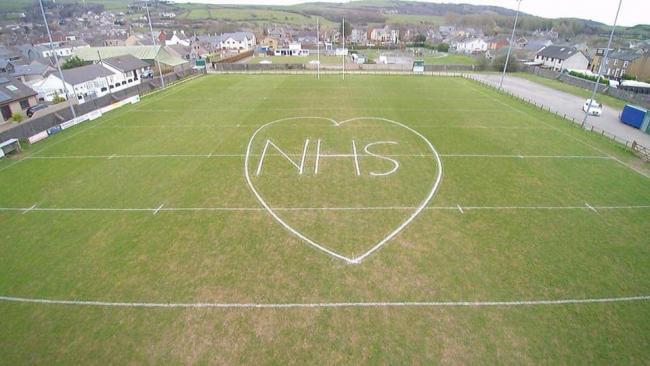 Askam rugby club's NHS gesture