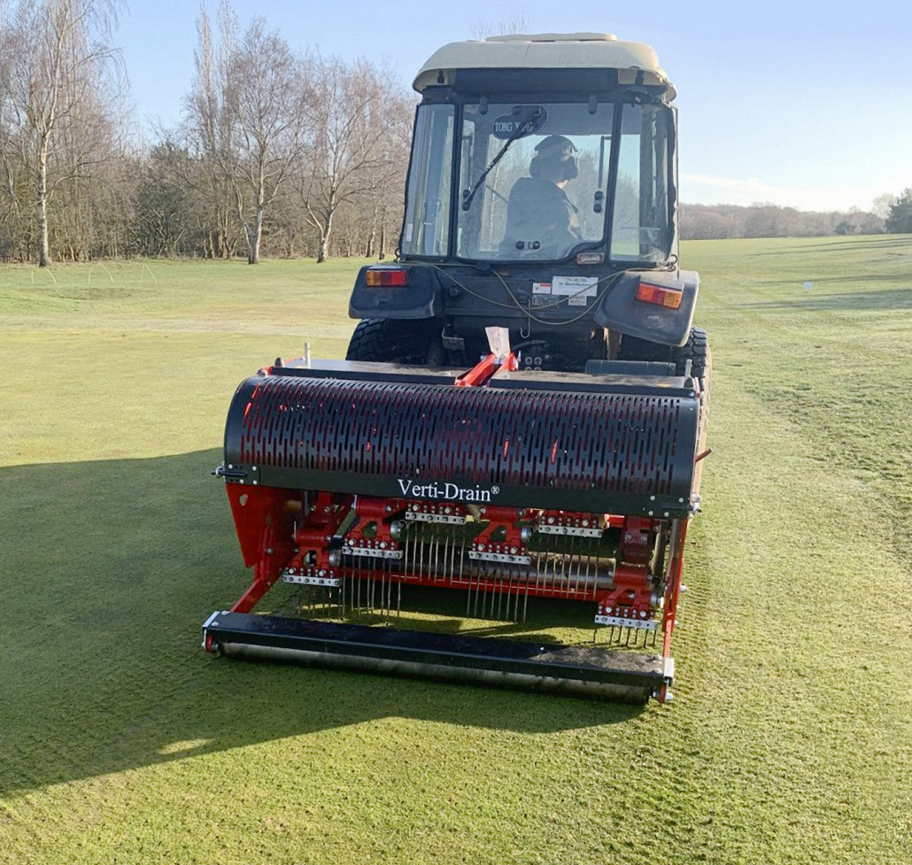 New Verti-Drain for Selby Golf Club