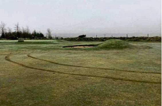 Vandals damage golf club