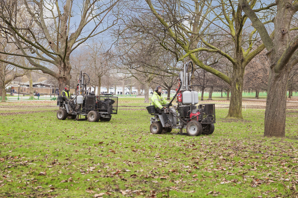 Terrain deep penetration aeration for trees