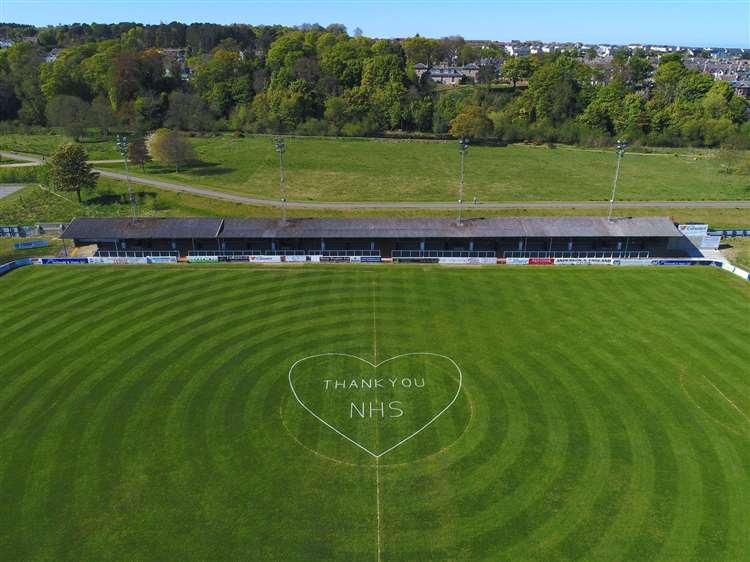 Elgin pitch in thank NHS