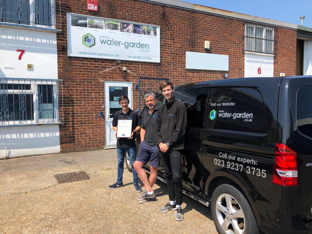 KAR UK presents Water Garden UK with sales award