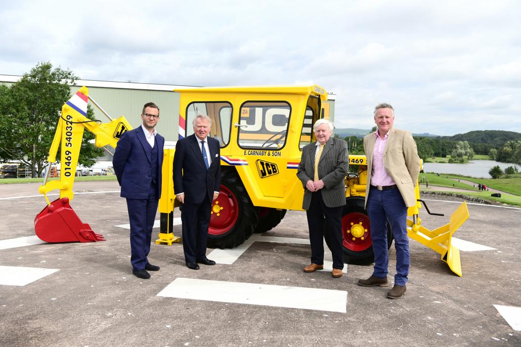 JCB machine restored to former glory