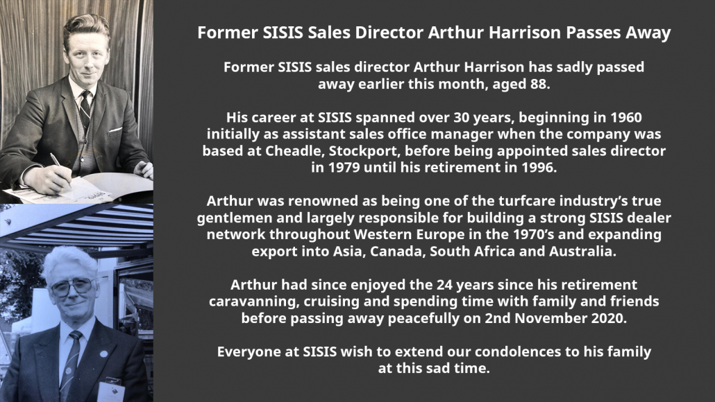 Former SISIS Sales Director Arthur Harrison passes away