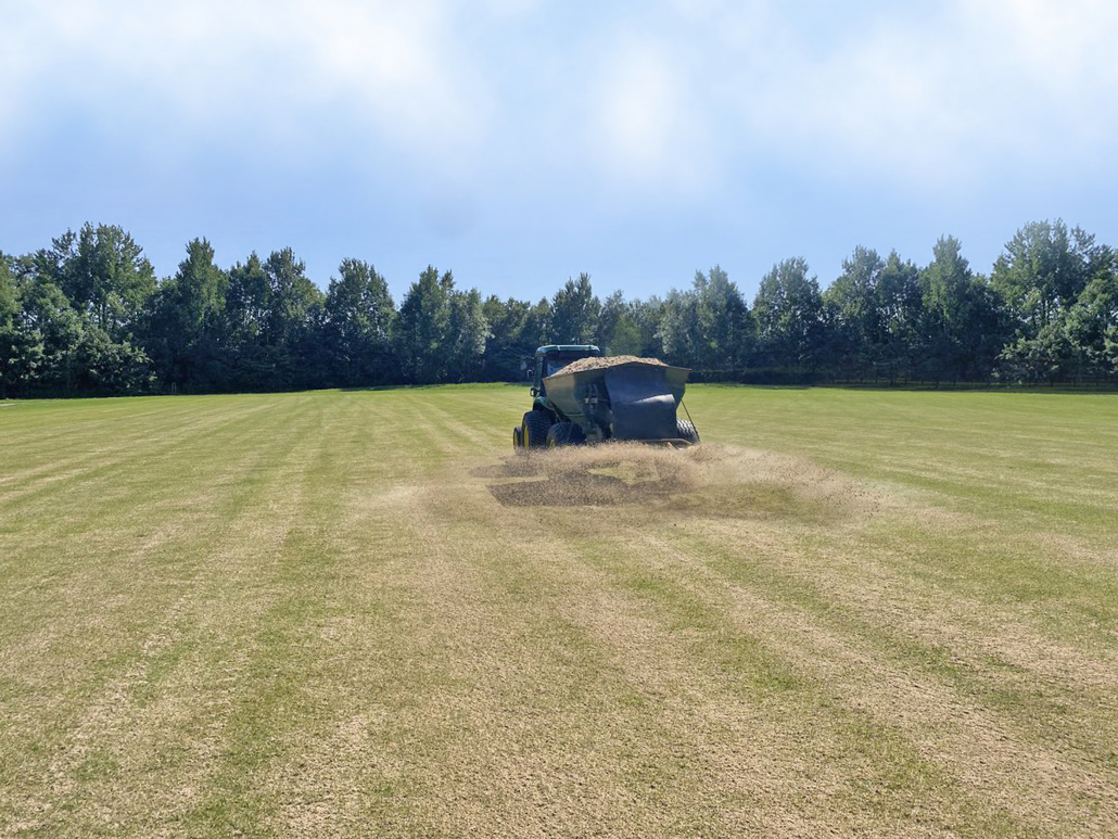 Can sand dressing provide a solution to worm casts?