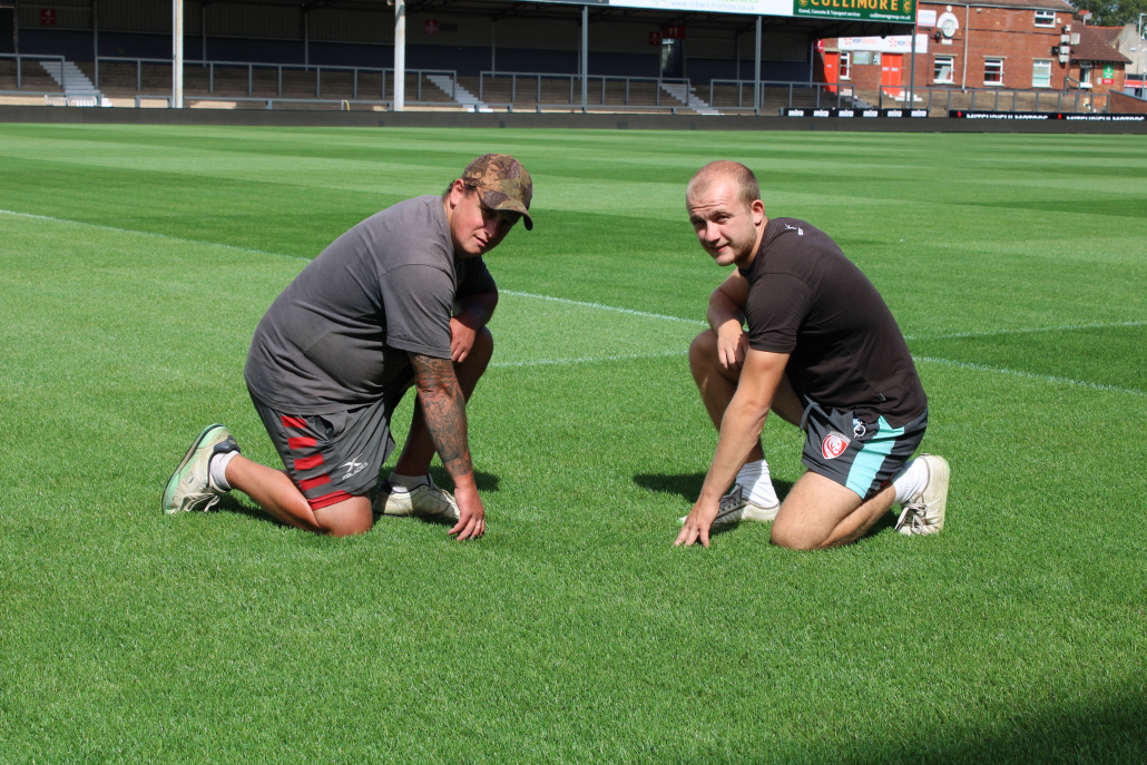 Stronger sward for Gloucester Rugby