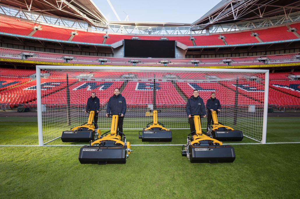 """Wembley Stadium, the very heart of English football, is now the home for five 34"""" INFINICUT® FL mowers."""
