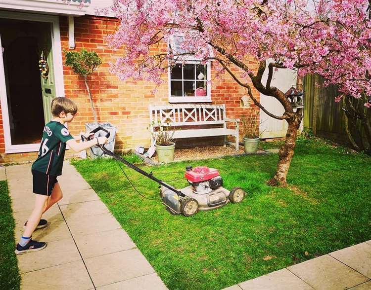 9 year old launches mowing business