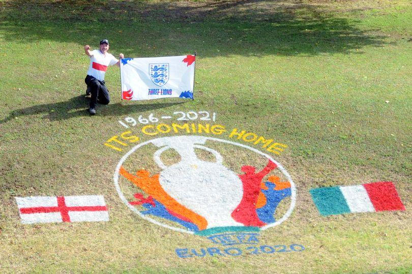 Groundsman's Euro 2020 tribute