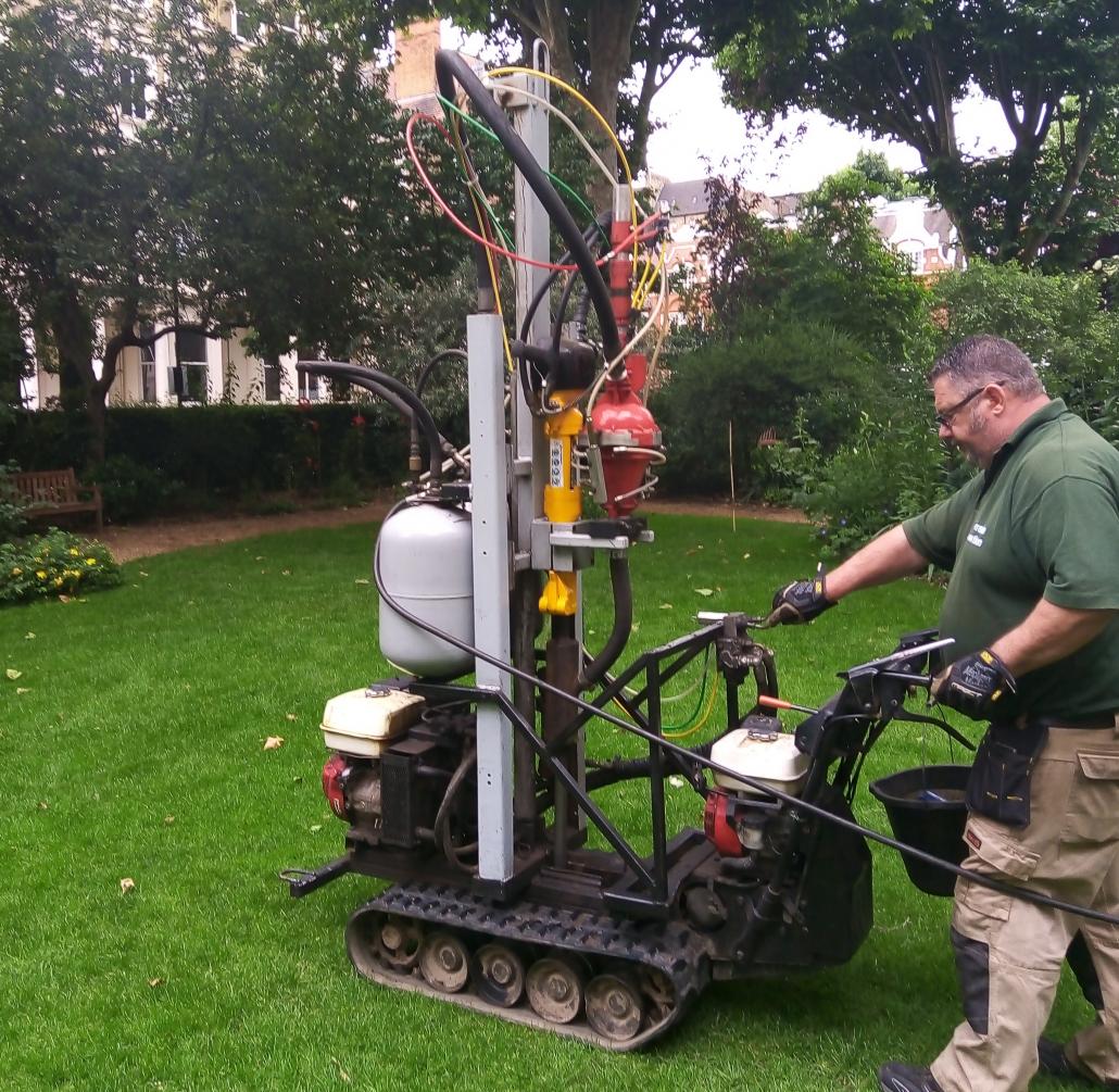 Terrain Aeration for London garden square