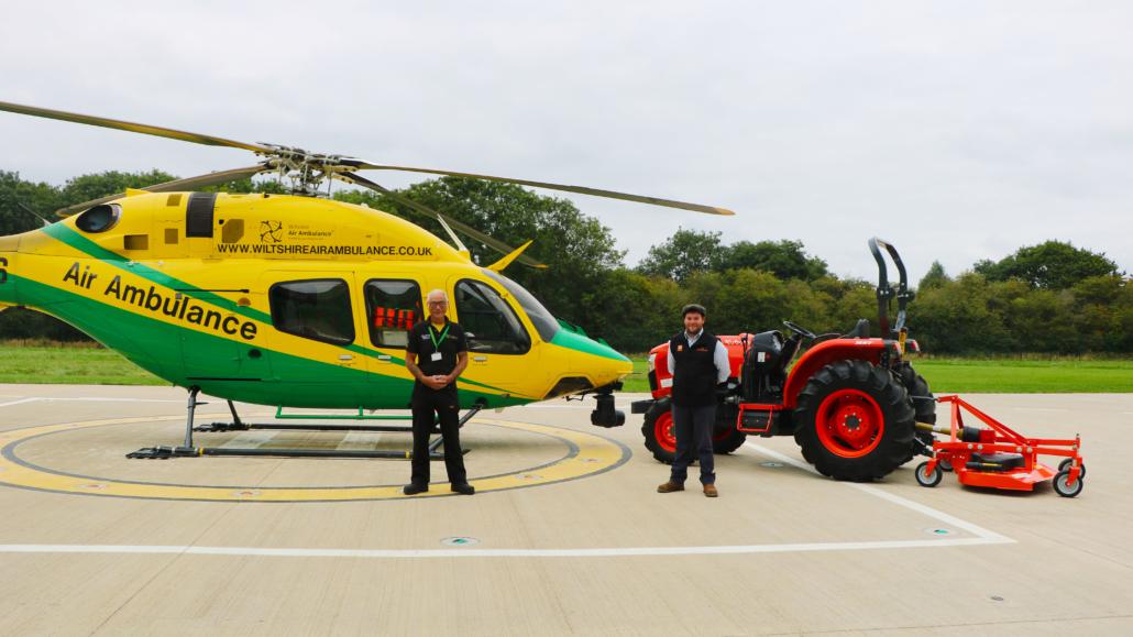 Kubota tractor supports the air ambulance